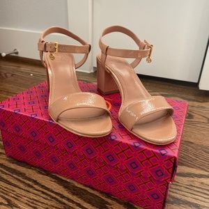 Tory Burch Laurel Ankle-Strap Heeled Sandal US 7.5